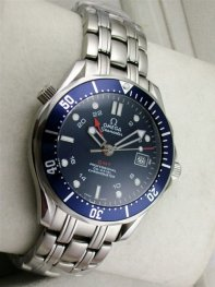 Omega Seamaster Professional Blue Bezel Black Dial Watch