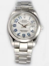 Rolex DATEJUST Silver Dial With Blue Arabic Hour