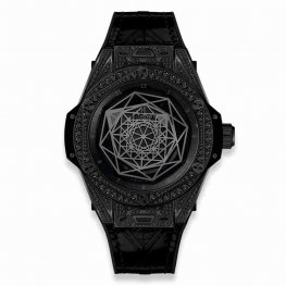 Hublot Big Bang Sang Bleu All Black Pavé 465.CS.1114.VR.1700.MXM18 39mm Replica