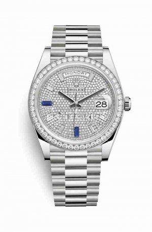 Rolex Day-Date 40 228349RBR Paved diamonds sapphires Dial Watch Replica