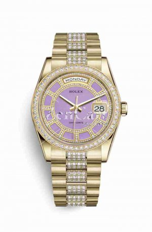 Rolex Day-Date 36 118348 Carousel of lavender jade Dial Watch Replica