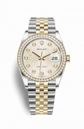Rolex Datejust 36 Yellow 126283RBR Silver Jubilee diamonds Watch Replica