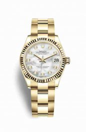 Rolex Datejust 31 278278 White mother-of-pearl diamonds Watch Replica
