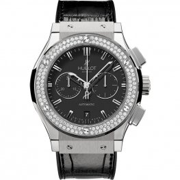 Hublot Classic Fusion Chronograph Titanium Diamonds 541.NX.1170.LR.1104 Watch Replica