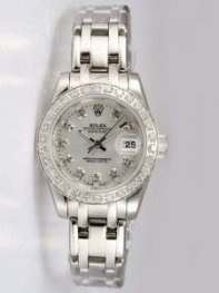 Rolex DATEJUST Argenteous Dial With CZ Diamond H
