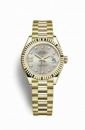 Rolex Datejust 28 279178 Silver diamonds Watch Replica