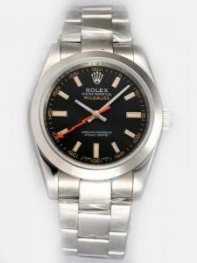 Rolex Milgauss Black Dial Arabic And Orange Bar