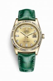 Rolex Day-Date 36 118138 Champagne diamonds Watch Replica