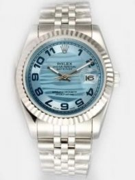 Rolex DATEJUST Sappire Dial With Arabic Hour Ma