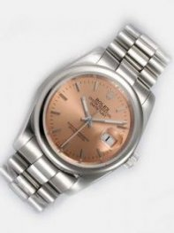 Rolex DATEJUST Brown Dial With Bar Hour Markers