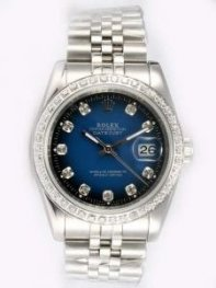 Rolex DATEJUST Indigo Dial With CZ Diamond Hour