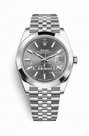 Rolex Datejust 41 Oystersteel 126300 Dark rhodium Dial Watch Replica