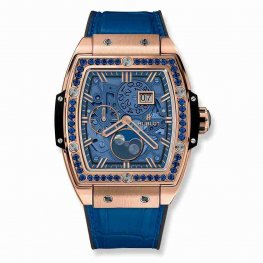 Hublot Spirit Of Big Bang Moonphase King Gold Dark Blue 647.OX.5181.LR.1201 42mm Replica