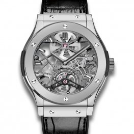 Hublot Classic Fusion Ultra-Thin Skeleton Tourbillon Platinum 505.TX.0170.LR Watch Replica