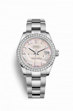 Rolex Datejust 31 White gold 178384 Pink mother-of-pearl Dial Watch Replica