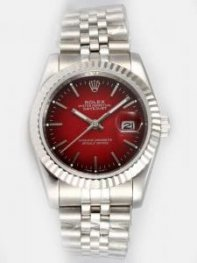 Rolex DATEJUST Wine Red Dial With Bar Hour Mark