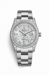 Rolex Day-Date 36 diamonds 118389 White mother-of-pearl diamonds Watch Replica