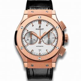 Hublot Chronograph King Gold Opalin 45mm Classic Fusion 521.OX.2611.LR Watches Replica