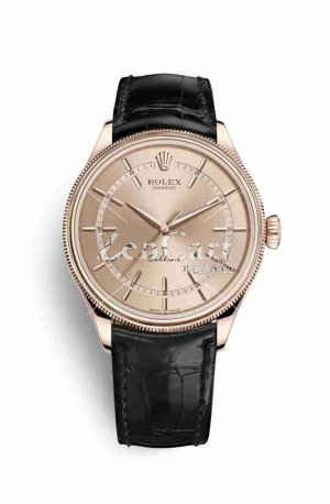 Rolex Cellini Time Everose gold 50505 Pink Dial Watch Replica