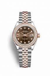 Rolex Datejust 28 Everose gold 279381RBR Chocolate diamonds Watch Replica