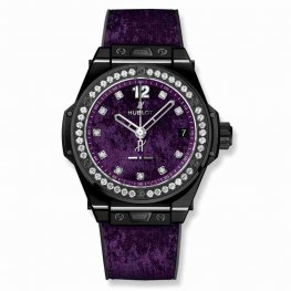 Hublot Big Bang One Click Italia Independent Purple Velvet 465.CS.277V.NR.1204.ITI17 39mm Replica Watch