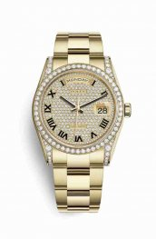 Rolex Day-Date 36 118388 Diamond-paved Dial Watch Replica
