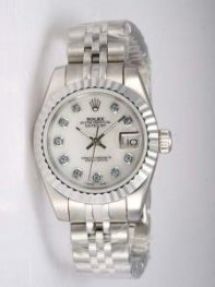 Rolex DATEJUST Oyster White Dial With CZ Diamond