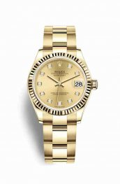 Rolex Datejust 31 278278 Champagne diamonds Watch Replica