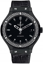 Hublot Classic Fusion Black Magic Diamonds 565.CM.1170.LR.1104 Watch Replica