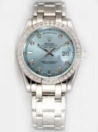 Rolex Day Date Thirsty Blue Dial With Roman Hour