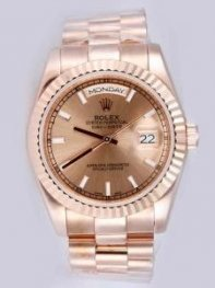Rolex Day Date Anti Gold Dial With Bar Hour Mark