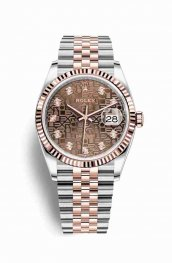 Rolex Datejust 36 Everose gold 126231 Chocolate Jubilee diamonds Watch Replica