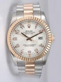 Rolex DATEJUST White Dial With Arabic Hour Mark