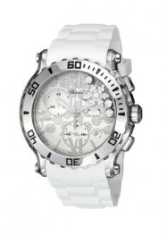 Chopard Happy Sport Round White Diamond Snow Dial Ladies Watch