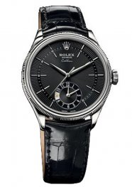 Rolex Cellini Dual Time White Gold 50529 bkbk