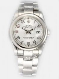 Rolex DATEJUST Silver Dial With Arabic Hour Mark