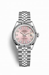 Rolex Datejust 28 White gold 279174 Pink diamonds Watch Replica