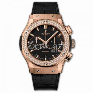 Hublot Chronograph King Gold Diamonds 45mm Classic Fusion 521.OX.1181.LR.1104 Watches Replica