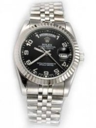 Rolex Day Date Black Dial With Arabic Hour Mark