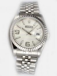 Rolex Date Cream Dial With White Bar And Arabic