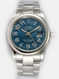 Rolex DATEJUST Indigo Dial With Arabic Hour Mark