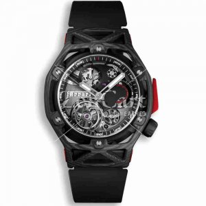 Hublot Techframe Ferrari Tourbillon Chronograph Carbon 408.QU.0123.RX 45mm Replica