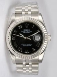 Rolex DATEJUST Black Dial With Roman Hour Marke