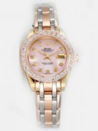 Rolex DATEJUST Pink Dial With CZ Diamond Hour Ma
