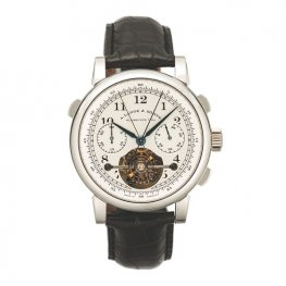 A. Lange & Sohne Lange Tourbograph Pour le Merite Mechanical in Platinum 702.025
