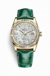 Rolex Day-Date 36 118138 White mother-of-pearl diamonds Watch Replica