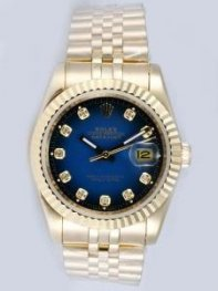 Rolex DATEJUST Indigotic Dial With CZ Diamond Ho