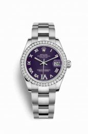 Rolex Datejust 31 White gold 178384 Purple diamonds Watch Replica