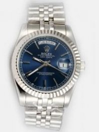 Rolex Day Date Cobalt Blue Dial With Bar Hour Ma