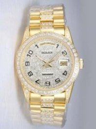 Rolex Day Date Iced White Dial With Arabic Hour